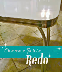 chrome table chairs vintage retro chrome table redo tablebredo retro chrome table redo