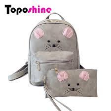 Toposhine 2 Bag/Set Cute <b>Women Backpacks</b> 2016 Rivet Girls ...