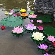 <b>5PCS Real Touch Artificial</b> Lotus Flower Foam Lotus Flowers Water ...