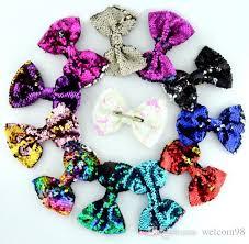 <b>10pcs</b> lot <b>Mix Colors</b> Sequins Hair Accessories <b>Hair Clip</b> Barr...