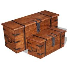 vidaXL <b>2 Piece Storage Chest</b> Set Solid Wood– House of Isabella AU