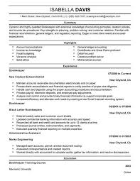 best bookkeeper resume example  livecareer bookkeeper resume example
