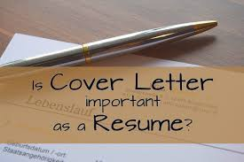 is cover letter important as a resume jobcluster com blog is cover letter important as a resume