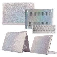 Shiny Silver Glitter <b>Laptop Hard Shell Case Keyboard</b> Guard Cover ...