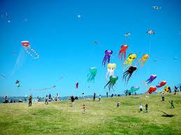 childhood river of life flows fancilful kites