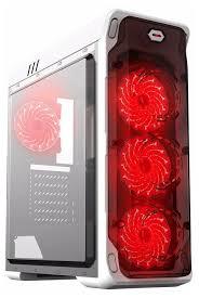 Компьютерный <b>корпус GameMax StarLight</b> White/red — купить по ...
