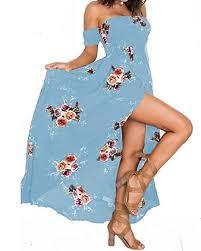 <b>Summer</b> Beach Maxi Dresses for <b>Women Off</b> The <b>Shoulder</b> Floral ...