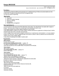 housekeeping resume examples in lubbock  tx   livecareer housekeeping resume   lubbock  texas