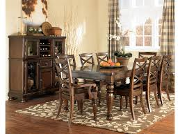 dining room table ashley furniture home: home dining room furniture dining tables ashley furniture porter house rectangular extension table shown with arm amp side chairs amp server