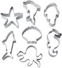 kuou <b>7Pcs Cookie Cutters</b>, Marine Life Shape Biscuit Cutter Metal ...