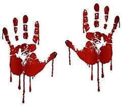 Life Size Bloody <b>Hand Print</b> Decals Walking Dead <b>Zombie</b> ...