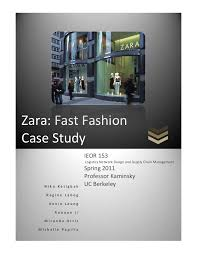 research paper zara fast fashion Most Popular Documents for BADM