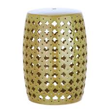 patio stool: lacey garden spring green patio stool