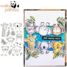 <b>Naifumodo Die Cutting</b> Cute Animal Monkeys Metal with Clear ...