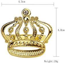 Yalulu 6 Pcs Tableware <b>Napkin Rings</b> Set, Rhinestone <b>Crown</b> ...