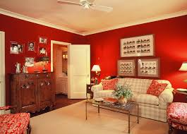 room paint red: just an ordinary guest room the acrylic red is painted over grasscloth for additional texture