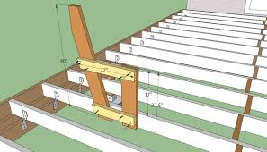 deck bench plans howtospecialist how to build step by deck bench plans