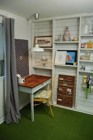 photos hgtv shabby chic home office with green carpet and built in shelves 1 bedroom chic home office bedroom