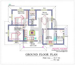 Nano home plan and elevation in square feet   Kerala home    Ground Floor