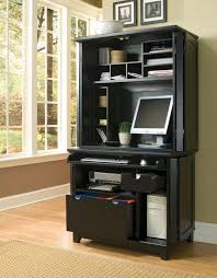 home office design black computer armoire shelves file drawers armoire office
