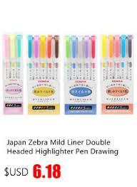 <b>5Pcs</b>/<b>Set Japan Zebra Mild</b> Liner Double Headed Highlighter Pen ...