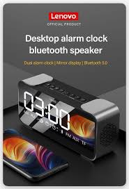 <b>Lenovo L022</b> Wireless <b>bluetooth</b> Speaker LED Mirror Dual Alarm ...