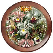 "Часы круглые из дерева ""<b>Орхидеи</b> (Orchideae, Ernst Haeckel ..."