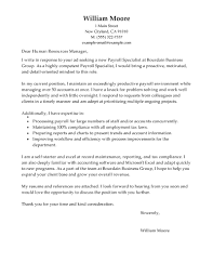 resume cover letter examples cover letter template for word resume cover letter examples best payroll specialist cover letter examples livecareer gallery accounting cover letter
