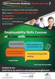 get your dream job our employability skills courses keep poster