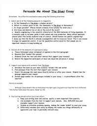 the giver essay questions   gradesaverfree essays on jonas the giver essay through