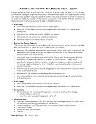 kitchen helper resume kitchen helper job description for resume kitchen supervisor job reentrycorps kitchen helper job description for resume
