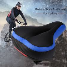 Reflective <b>Shock Absorbing Hollow</b> Bicycle Saddle PVC Fabric Soft ...