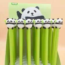 2 pcs/<b>lot Lovely</b> Panda Gel <b>Pen</b> Signature <b>Pen</b> Escolar Papelaria ...