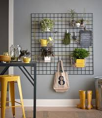 great idea for styling a garden office use a metal grid wall hanging space avenue greene grey ladder storage office wall