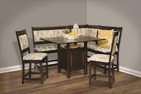 amish high country counter height breakfast nook set amish breakfast nook set
