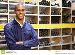 portrait of engineering worker in store room stock image image portrait of engineering worker in store room