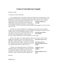 letter of introduction how to write an introduction letter introduction letter sample 04