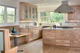 beech wood kitchen cabinets: beech wood cabinets for contemporary kitchen with modern