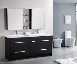 bathroom vanity mirror ideas modest classy: design element perfecta double integrated white acrylic drop in sink vanity set