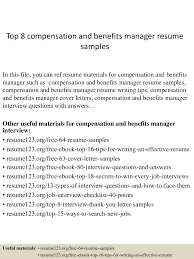 compensation and benefits specialist resume