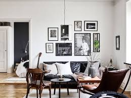 Of Living Rooms With Black Leather Furniture Cozy Hipster Living Room With Black Leather Sofa Eva St