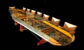 airplane wing conference table aviation themed furniture