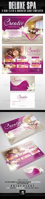 best images about ulotki foldery font software deluxe spa flyer business card templates