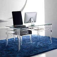 acrylic and glass desks acrylic office furniture