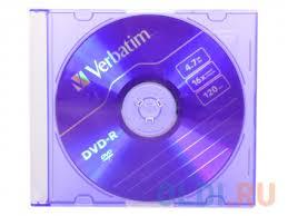 <b>Диск DVD-R Verbatim</b> 4.7Gb Slim (43655/547/557) — купить по ...