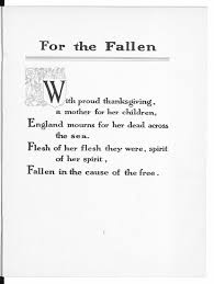 reframing first world war poetry the british library for the fallen and other poems