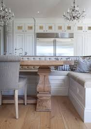 euro week full kitchen: banquette table and flooring i love the combination of the built in banquette