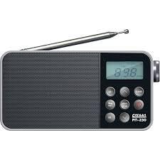 Портативный <b>радиоприемник Сигнал РП-230</b> с часами
