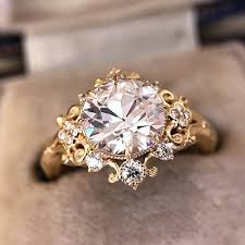 <b>ROMAD 2019 New Fashion</b> Clear CZ Stone Gold Color Flower ...