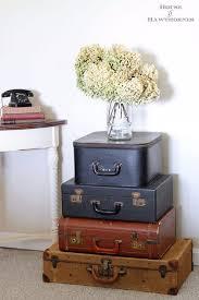 bedroom vintage ideas diy kitchen:  more diy farmhouse style decor ideas vintage suitcases display creative rustic ideas for